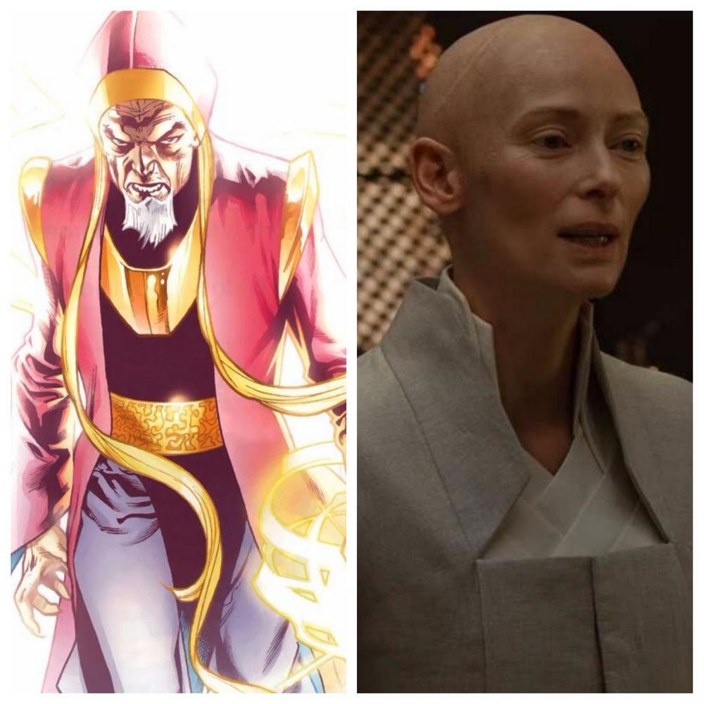 Tilda Swinton jako Starożytna w Doktorze Strange