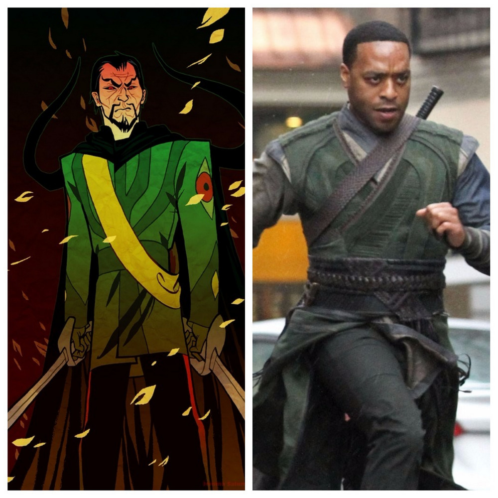 Chiwetel Ejiofor jako Mordo w Doktorze Strange