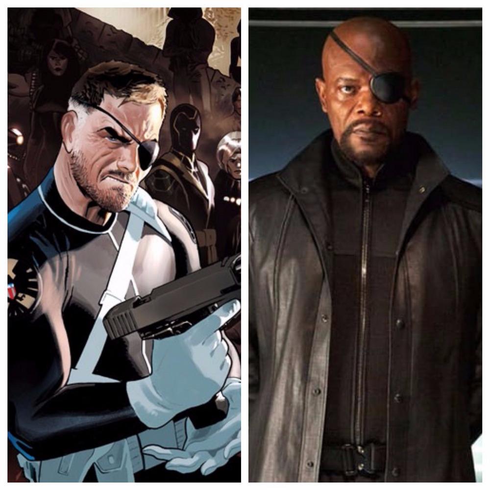 Samuel L. Jackson jako Nick Fury w Iron Manie