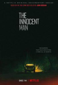 Plakat serialu dokumentalnego Niewinny człowiek (Netflix)